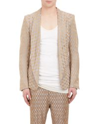 Haider Ackermann Diamond-Jacquard Single-Button Jacket - Lyst