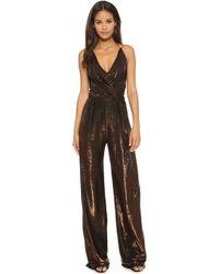 113a6dbd960 Kempner - Sienna Jumpsuit - Copper Metallic - Lyst