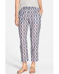 Velvet By Graham & Spencer 'Nuku' Print Pants gray - Lyst