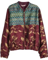 H&M Jacquard-Weave Bomber Jacket multicolor - Lyst