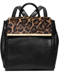 Michael Kors Lana Leopard-print Hair Calf and Leather Backpack - Lyst