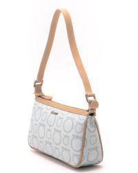 Ferragamo Light Blue Handbag - Lyst
