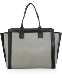 Chloé Alison North South Bicolor Leather Tote - Lyst