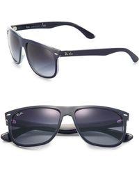Ray-Ban Flattop 60Mm Square Sunglasses black - Lyst