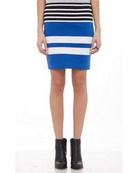 T By Alexander Wang Mixed Stripe Pencil Skirt - Lyst