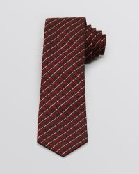John Varvatos Plaid Stripe Skinny Tie - Lyst