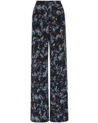 Saloni Fifi Python Print Silk Trousers - Lyst