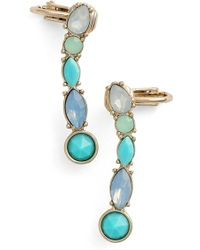 Kent & King - Crystal Ear Crawlers - Turquoise/ Gold - Lyst