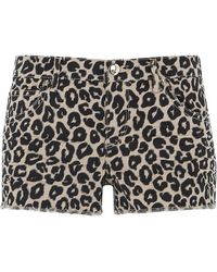 Juicy Couture Leopard Print Cut Off Shorts - Lyst
