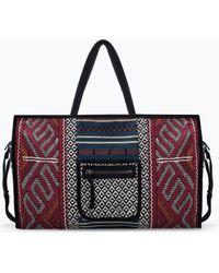 Zara Red Ethnic Shopper - Lyst