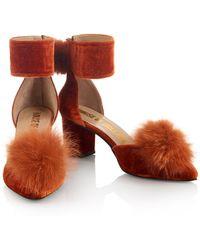 House of Holland - Aw14 'debauched Debutantes' Orange Pom Pom Shoes - Lyst