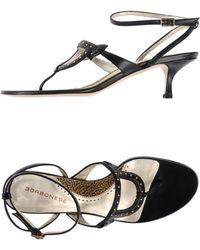 Borbonese Thong Sandal black - Lyst