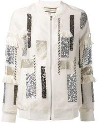 By Malene Birger Sequin Embellished Jacket - Lyst