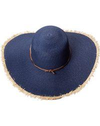 Sperry Top-Sider Long Brim Straw Hat W Contrast Edges - Lyst