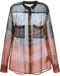 Raquel Allegra Brown Tie-Dye Shirt - Lyst