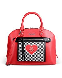 Love Moschino Large Leather Bag - Lyst