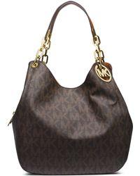 Michael Kors Fulton Large Logo Shoulder Bag - Lyst