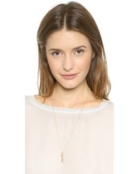 Kacey K - Duo Charm Starter Set Necklace - Gold/Clear - Lyst