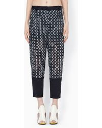 3.1 Phillip Lim Organza Pant With Caning Embroidery And Silk Cdc Cuffs - Lyst