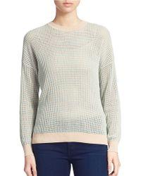 DKNY Novel-Stitch Cotton Sweater - Lyst