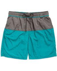 Calvin Klein Colorblocked Swim Trunks blue - Lyst