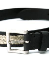 Faith Connexion - Woven Panel Buckle Belt - Lyst