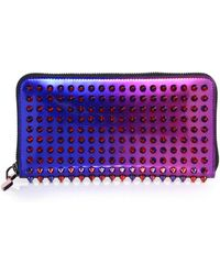 Christian Louboutin | Panettone Studded Metallic Ombre Continental Wallet | Lyst