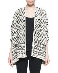Joie Tosca Tile-jacquard Open Sweater - Lyst