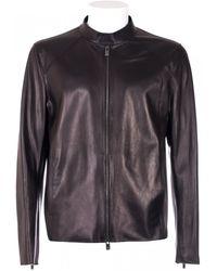 DROMe Shine Black Leather Jacket - Lyst