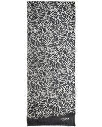 Diane von Furstenberg Hanover Scribble-Print Modal Scarf - Lyst