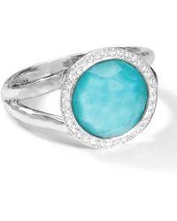 Ippolita - Stella Mini Lollipop Ring In Turquoise Doublet With Diamonds - Lyst
