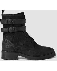 AllSaints | Defoe Straps Boot | Lyst
