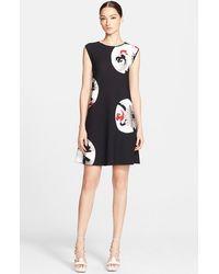 Alexander McQueen Women'S Circle Print A-Line Minidress - Lyst