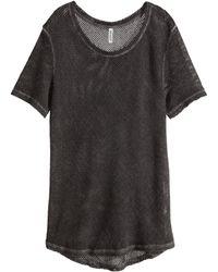 H&M Mesh T-Shirt - Lyst