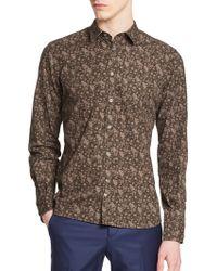J.Lindeberg Floral Cotton Sportshirt - Lyst