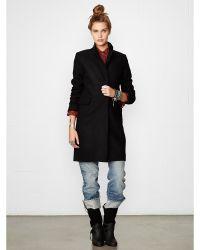Denim & Supply Ralph Lauren Black Wool-blend Coat - Lyst
