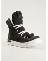 Cinzia Araia Black Hitop Sneakers - Lyst