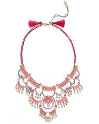 Kent & King - 'drama' Crystal Bib Necklace - Lyst