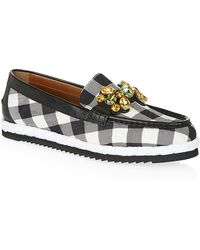Dolce & Gabbana Checked Brocade Palermo Loafers - Lyst