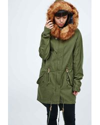 Obey - Verlane Army Parka In Green - Lyst