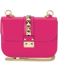 Valentino Rockstud Flap Small Shoulder Bag - Lyst
