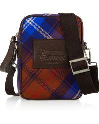 Vivienne Westwood Anglomania - Leather-trimmed Tartan Flannel Shoulder Bag - Lyst