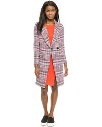 Milly Couture Tweed Cleo Coat - Multi - Lyst