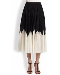 Raoul Pleated Midi Skirt - Lyst
