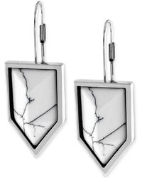 Vince Camuto - Silvertone Marble Stone Chevron Drop Earrings - Lyst