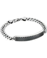King Baby Studio Curb Link Id Bracelet With Industrial Pattern - Lyst