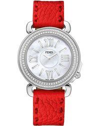 Fendi Ladies Selleria Stainless Steel Round Watch - Lyst