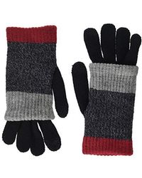 Steve Madden - Multi Stripe Purl Knit Gloves (red) Extreme Cold Weather Gloves - Lyst