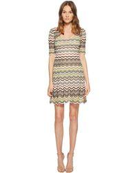 M Missoni - Wave Ripple Knit Dress (nude) Women's Dress - Lyst