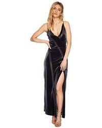 ffa3dfac Free People - Spliced Velvet Maxi (graphite) Dress - Lyst